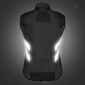 Windproof, Sleeveless Cycling Vest Reflective Safety Vest for Running