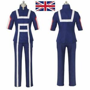 My Hero Academia Cosplay Costume Set School Uniform Gym Suit Top+Pants UK.