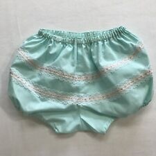 Vintage Blue Lace Baby Diaper Cover Training Girls Dress Outfit Shorts Bloomers