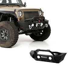07-17 Jeep Wrangler JK Rock Crawler Stubby Front Bumper+Fog Light Hole+Black 4x4