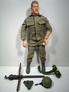 """Soldiers of the World 12"""" 1:6 Korean War Machine Gunner Action Figure Formative"""