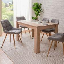 Tavolo da pranzo colore rovere inserto nero/bianco moderno elegante design