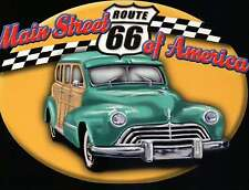 Route 66, Main Street of America Chicago to Los Angeles, Oldtimer Car - Postcard