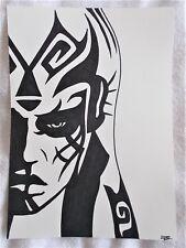 A4 Art Marker Pen Sketch Drawing Darth Talon Sith from Star Wars Poster b