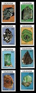 Uganda 1988 - MINERALS - Set of 8 (Scott #599-606) - MNH