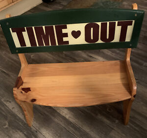 """Wooden """"Time-Out"""" Bench -  19""""W x 18""""T - seating ht 8"""" 70lb Max Wt"""