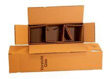 1x 2er Flaschen Versandkarton f/ür Weinflaschen UPS DHL gepr/üft Weinversandkarton Wein Flaschen Versand Verpackung f/ür 1 St/ück