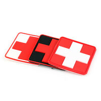 Jtg Medic Cross Paramedic 3D Tactical Army Morale Parche Rubber Hook Loop Patch/