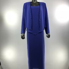 URSULA OF SWITZERLAND Mother Of The Bride Lilac Dress Size 10 With Rhinestone