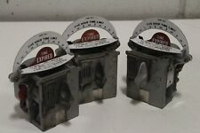 Lot of (3) Duncan Parking Meter Coin Bank 5 hour Time Mechanism Steampunk