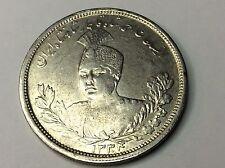 PERSIA, QAJAR, AHMAD, 5000 DINARS, SH 1334 SILVER COIN, UNC