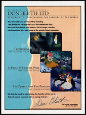 DON BLUTH LTD__Orig. 1993 Trade Print AD/ advert / Company Anncmnt. __Thumbelina