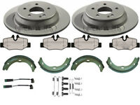 MERCEDES VITO W639 REAR BRAKE DISCS AND PADS WITH HAND BRAKE SHOES & FITTING KIT