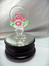 Vintage Iris Arc Crystal San Francisco Music Box Co Flower Basket Ltd Ed. NICE