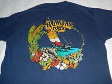 Vintage 1970's Hawaiian Tropic sailing medium t shirt by Stedman paper thin