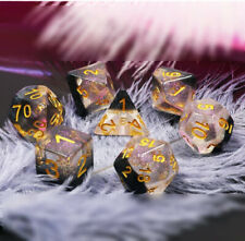 Crystal Ice Dice ~ 7 piece Polyhedral dice set ~ NEW RPG DnD Magic - HDC-05