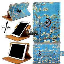 """For 7"""" 8"""" 9"""" 10.1"""" Tablet PC - Universal 360° Rotating Stand Leather Case Cover"""