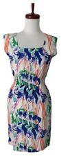Tucker by Gaby Basora Floral Silk Sleeveless Dress Blue White P XS
