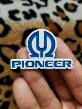 Limited Pioneer Logo Speaker Badge Vintage Stereo Receiver Enamel Pin Silver Era