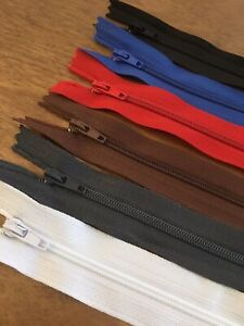 """8"""" / 20cm Closed End Zippers 1/5pc"""