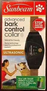 Sunbeam Advanced Ultrasonic Bark Control Dog Collar- Stop Annoying Barking Dogs