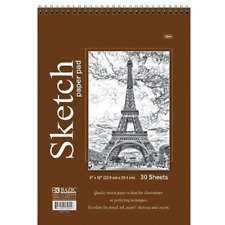 Quality Sketch Paper Book Pad, 9 x 12 inches, Each 30 Sheets BAZIC NEW!!