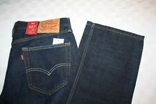 Levis Men's 527 Slim Bootcut Dark Blue Jeans Red Tag NWT Multi Sizes Frayed Cuff