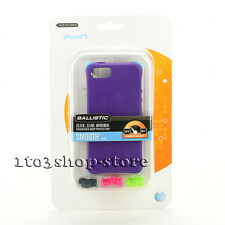Ballistic LS Smooth TPU Gel Case w/Color Bumpers for iPhone SE iPhone 5S Purple