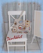 Sac cabas en coton beige/tote bag/Cup cake et gâteaux appliqués broderies main