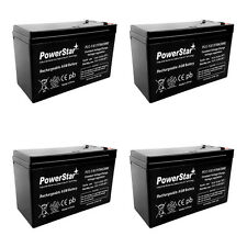 12V 7AH Rechargeable Battery for Razor E200 & E300S Electric Scooter 4PK Bundle