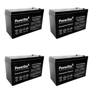 12V 7AH SLA Rechargeable Battery for Razor e200 / e200s / e300 /e300s / e325-4PK