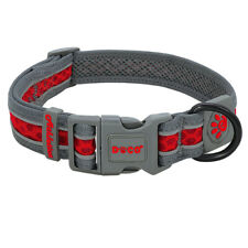 Reflective Dog Collar Soft Mesh for Medium Large Dog Buckles and D Rings 40-60cm