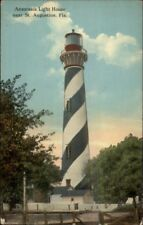 St. Augustine FL Anastasia Lighthouse 1913 Used Postcard