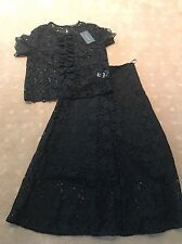 ZARA LADIES BLACK LACE 2 PIECE SET  SIZE MEDIUM  BRAND NEW WITH TAGS