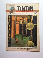 JOURNAL TINTIN 7 Belge 1947 2ème Année Couverture Hergé - BD Ancienne RARE