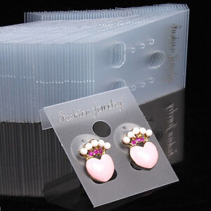 Clear Professional.Type Plastic Earring Ear Studs Holder Display Hang Cards.mc