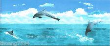 Blue Jumping Dolphins Sea Ocean Wave Sky Bathroom Vinyl Wall paper Border