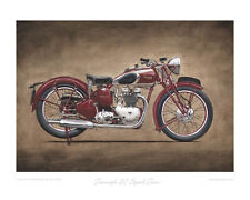Motorcycle Limited Edition Print Triumph 5T Speed Twin by Steve Dunn