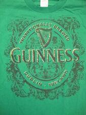 Guinness Dublin Ireland Beer Lager Liquor Irish College Party Green T Shirt L