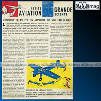 'Petite aviation' TINTIN HERGE - Article Presse 1962 #130