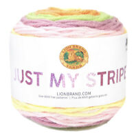 Lion Brand Just My Stripe Tutti Frutti, Med Weight (4); Lot Of 3 Cakes