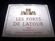 etiquette Chateau Les Forts de Latour 1976 75cl chateau wine label wein etikett