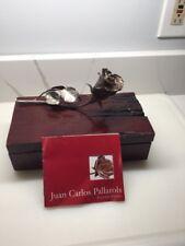 Vintage Juan C. Pallarols Sterling Silver Rose w/Box & Paperwork - Rare