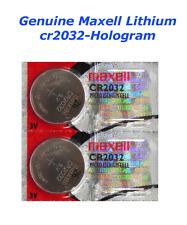 2 Maxell or Sony CR2032 ECR2032 cr 2032 Lithium Battery 3V Expire Date 2022