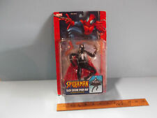 """Spider-Man Black costume SPIDERMAN w/Missile Launching Glider """"Squished Package"""""""