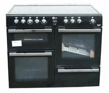 FLAVEL 100cm Electric Ceramic Range Cooker Double Oven MLN10CRK Black #1856