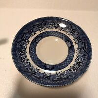 Churchill Blue Willow 5.5 Inch Saucer Blue & White Microwave Dishwasher Safe