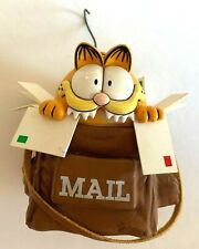 Garfield the Cat Ornament Garfield in Mail Bag Eating Mail Collectible Vintage