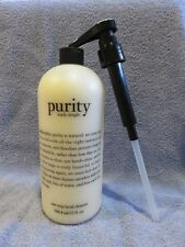 Philosophy Purity Made Simple One Step Facial Cleanser 32 oz bottle with Pump *