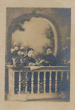Chine Portrait  noble servante carte cabinet tirage argentique d'époque v. 1920